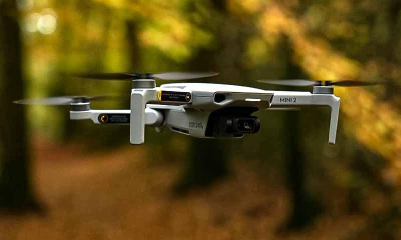 Dron DJI Mini 2 záběry z výšky